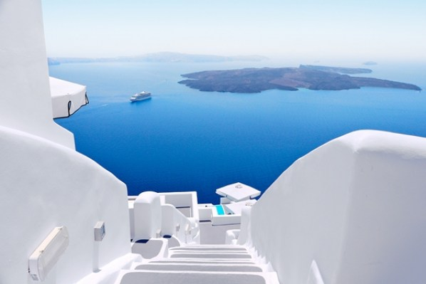 Santorini, perfect view of volcano