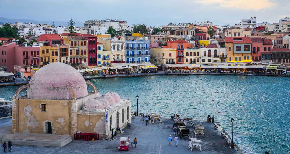 Venetian Port of Chania,West Crete