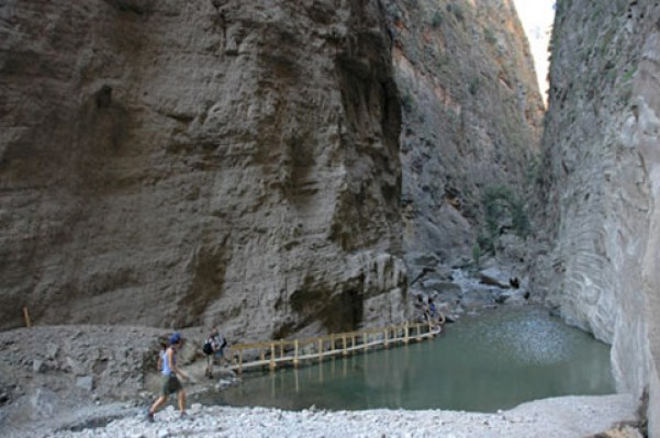 Interior of Samaria's Gorge