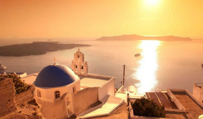 Santorini's famous sunset, Greece