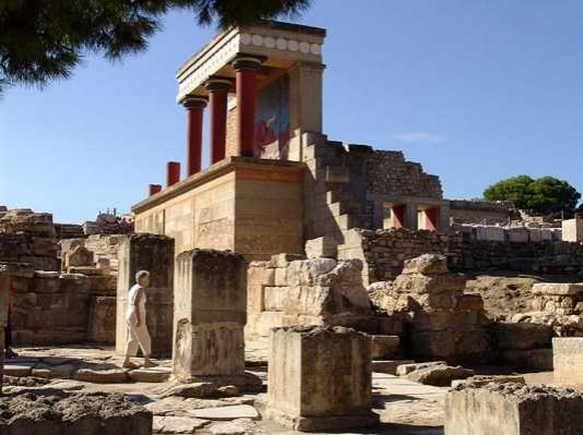 The royal palace of Knossos