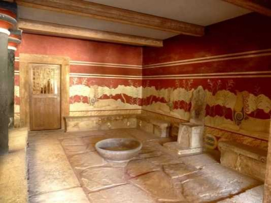 The throne of the king, Knossos
