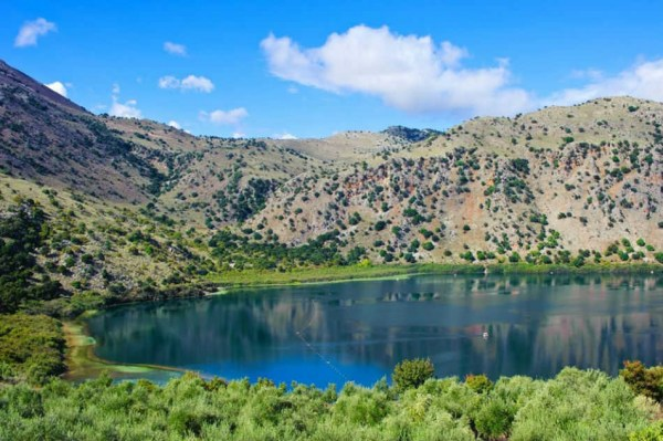 Fantastic view at Kournas Lake, Chania, West part of Crete