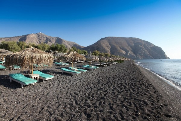 Black sand beaches, Santorini